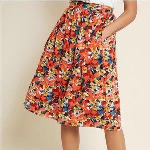 Compañia Fantastica for ModCloth floral midi skirt